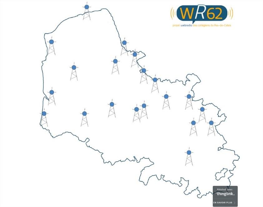 carte interactive webradio sur l'ENT