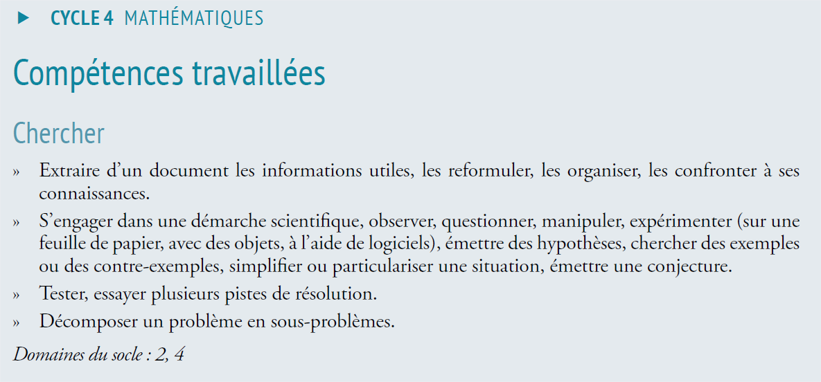 competences travaillees
