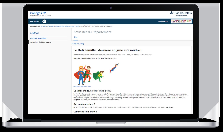Défi famille département du Pas-de-Calais