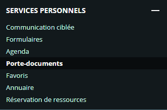service porte-documents